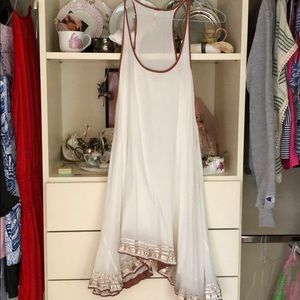 white free people dress/coverup